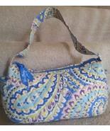 Vera Bradley Maggie Style Capri Blue Paisley Hand Bag Retired OOP Vera B... - $24.74