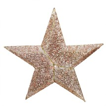 PENN 4' Lighted Elegant Red and Gold Sequined Star Christmas Outdoor Dec... - £66.43 GBP