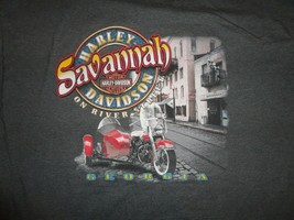 Vintage 2000 Harley Davidson 60-40 Savannah GA Grey Motorcycle TShirt Ad... - $24.74