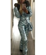 Man Woman Winter Ski Suit Overall Snow Silver Metallic Argentum Outwear ... - $360.00