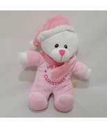 "My First Christmas Teddy Bear Plush Stuffed Animal 9"" Toy Pink Girl Dan Dee - $9.99"