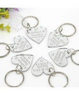 KeyChain Keyring 30 Pcs 30x30 Mm Personalized Engraved Mr&Mrs Surname Si... - $31.77