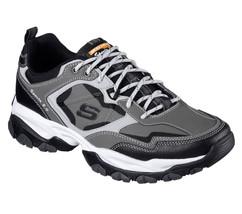 52700 W Wide Fit Gray Skechers shoes Men Memory Foam Sport Train Comfort... - £31.59 GBP