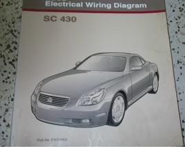 2002 lexus sc430 sc 430 electrical wiring diagram shop service manual ewd - $89.08