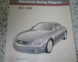2002 lexus sc430 sc 430 electrical wiring diagram shop service manual ewd - $89.08