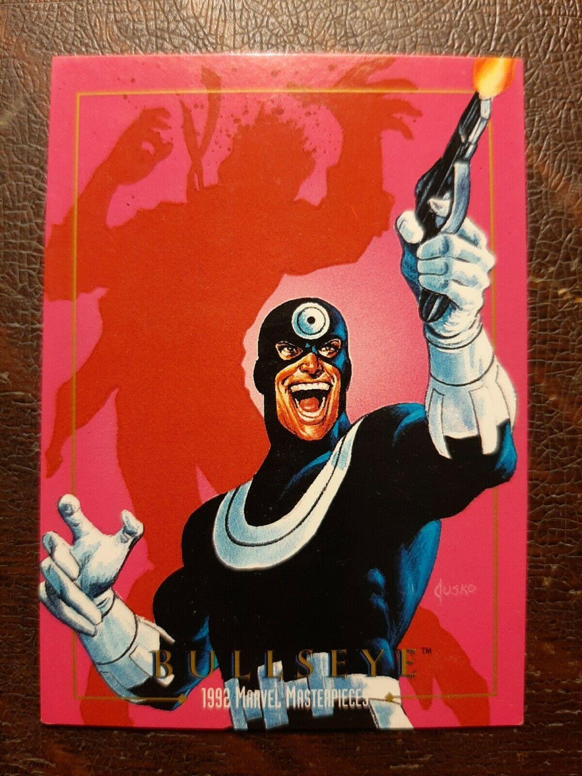 x1 1992 SkyBox Marvel Masterpieces Bullseye #19 Card  - $2.50