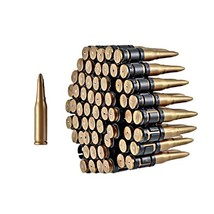 Gold & Black Plastic Costume Bullet Belt Bandolier w/ 96 Bullets - $20.29