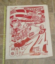 1974 Motorcycle Super Chopper Far Out Dugga Rump poster posters - $35.99
