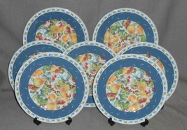 Set (7) Fitz & Floyd ALFRESCO COLLAGE PATTERN Salad Plates - $69.29