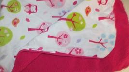 Circo owls trees orange birds Dark Pink Sherpa Baby Girl Blanket Plush  - $427,97 MXN