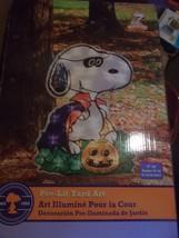 "Peanuts Lighted SNoopy Halloween Decoration 24"" - $36.99"