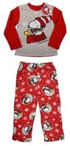 NEW Holiday Snoopy Kids Size 8 Medium 2 Piece Pajamas Long Sleeve Sleep Set - $32.62