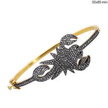 Scorpion Vintage Inspired 2.10Ctw Rose Cut Diamond 925 Silver Cuff Brace... - $850.00