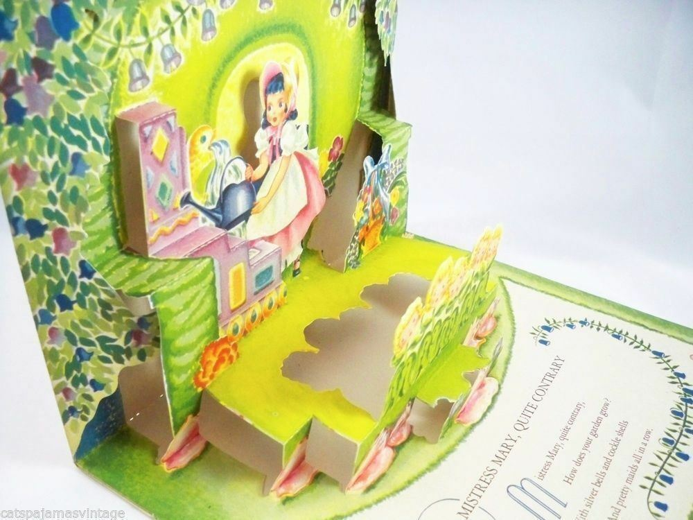 Vintage Pop Up Story Book Mistress Mary Geraldine Clyne 1950s