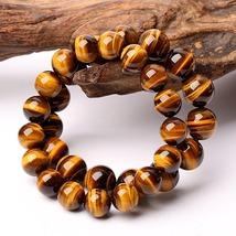 Minimalist Natural Stone Beads Tiger Eye Bracelet  Handmade Jewelry - $2.60+