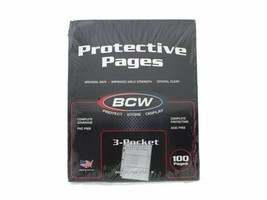 BCW - Pro 3-Pocket Currency Page. Fit All Standard 3-Ring Binder, 100 pack - $26.49