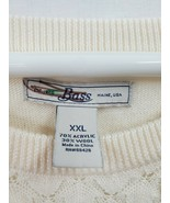 Bass Plus Size 3/4 Sleeve Wool Blend Scoop Neck Cream Sweater Sz XXL EUC... - $19.25