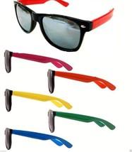 Wayfarer Sunglasses Large Silver Mirrored Lens Assorted Frame Colors - $8.99