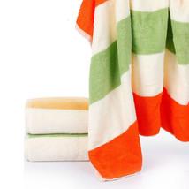 Cotton Bath Towel Colorful Striped Bathroom Hotel Travel Soft Thick Beac... - $17.72