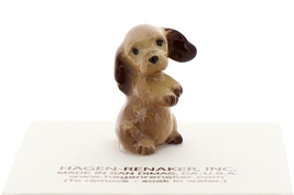 Hagen-Renaker Miniature Ceramic Dog Figurine Don Winton Cocker Pup Begging