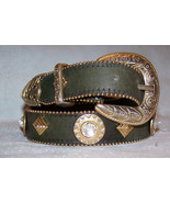 Elite Green Gold Brass Belt Crystallized with Swarovski Rhinestones Smal... - $125.00