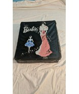 1962 Barbie Ponytail Fashion Doll Black Vinyl Clothing Carrying Case Box... - $9.90