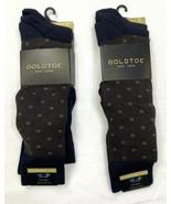 Gold Toe 6 Pairs Soft Rayon Dress Socks Men's Big & Tall 12-16 Black Bro... - $34.65