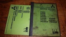 Mitsubishi Service AND operation maintenance manuals fg10 15 18 20 25 30... - $88.11