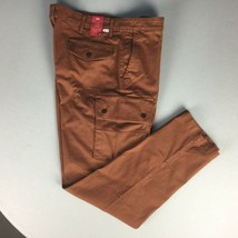 New Levis Cargo Pants Men Jeans Pockets Tapered Stretch Nwt Dark Brown 38x34 - $25.73