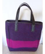 Coach Leatherware Wool Satchel Purple & Pink 8129 Handbag Purse - $54.99