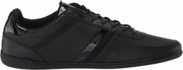 Lacoste Men's Leather Athletic Sport Giron 120 CMA Sneakers Shoes Black Gold image 2