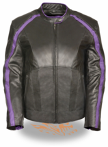 Milwaukee Leather Ladies' Plus Motorcycle Jacket Embroidery Black 3X #SV995-M890 - $290.39