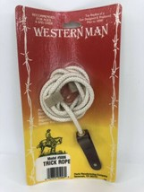 NEW Western Man Old Vintage Trick Rope Cowboy Western Toy 5006 SEALED - $24.74