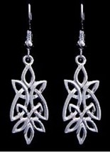 LOOK Celtic Infinity Knot Earrings Solid Sterling Silver 925 Jewelry - $28.12