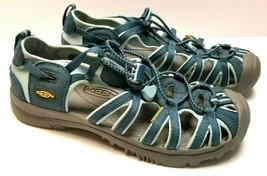 Keen Whisper Women's Sport Sandals Size 6 US EU 38 Waterproof Shoes Blue... - £31.60 GBP