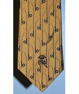 VTG COUNTESS MARA Gold Fishing Rod Silk USA Made Men's Necktie - $29.69