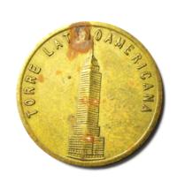 Mirador Mexico Torre Latinoamericana Brass Tower Souvenir Token 31mm - $9.89