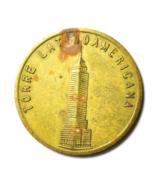 Mirador Mexico Torre Latinoamericana Brass Tower Souvenir Token 31mm - €7,98 EUR