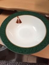Holiday Abundance Sakura Hallmark Green Rim Gold Rope Tassel 10 3/4 Serving Bowl - $16.70