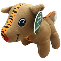 NEW Outward Hound Medium Tiger Seamz Reindeer Tough Squeaky Dog Pet Toy - $15.89 CAD