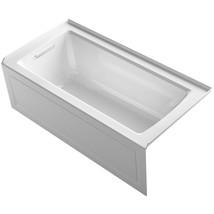 KOHLER Soaking Tub 5 ft. Built-in Flange Slip-Resistant Left Drain White - $805.35
