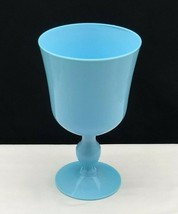 """Large French Portieux Vallerysthal blue opaline goblet 8"""" - $39.95"""