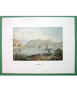 GERMANY Boppard Boppart on Rhine River - COLOR Fine Quality Lithograph P... - $26.01