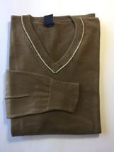 GAP V-Neck Brown Sweater M Long Sleeve Medium Men 100% Cotton - $17.95