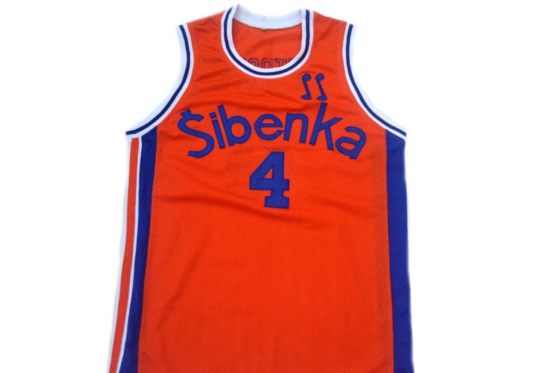 Drazen Petrovic #4 Sibenka Croatia Men Basketball Jersey Orange Any Size