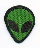 Alien - UFO Funny Embroidered Iron-On Patch - 1 3/4 x 2 inch - $3.91