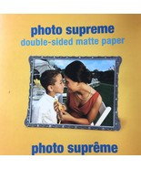 "Staples Photo Supreme Paper 8.5"" x 11"" Double Sided Matte 50 Per Pack 10... - $14.82"