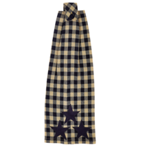 BLACK STAR Kitchen Towel - Set of 2 - Button Loop  -Black/Tan Check - VHC Brands