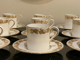 Wedgwood Whitehall White Demitasse Cups and Saucers # 4001 Set of 11 - $199.00