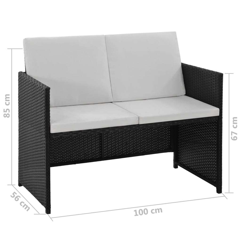 vidaXL 6 Piece Outdoor Dining Set with Cushions Chair Table Multi Colours
